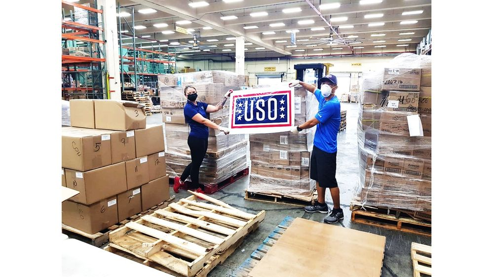 USO Guam and USAA supports the USS Theodore Roosevelt