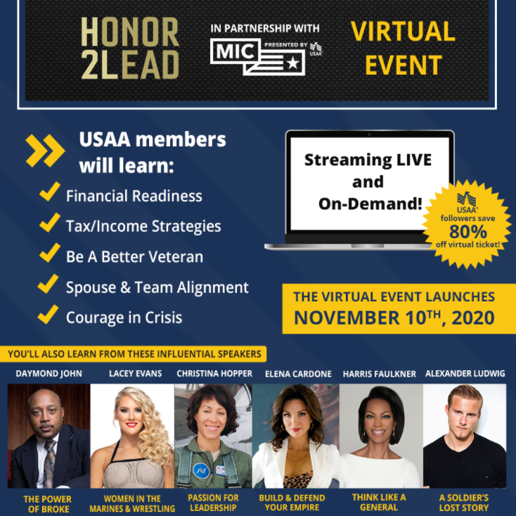 Honor2Lead Virtual Event presented by USAA - Save 80%