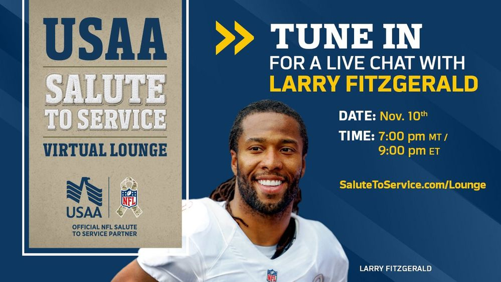 USAA Salute to Service Virtual Lounge with Larry Fitzgerald