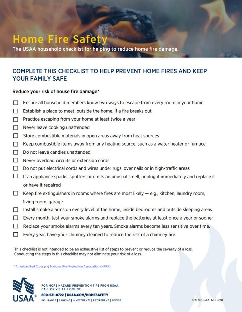 Home Fire Saftey Checklist USAA Community.jpg