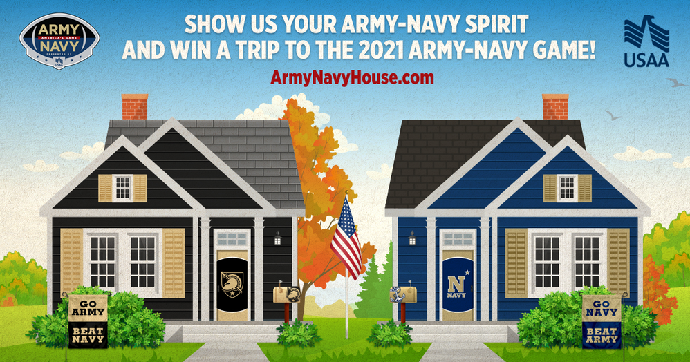 Show us your Army-Navy Game Spirit at the Virtual Army-Navy House
