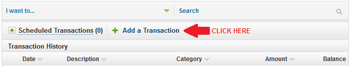 USAA Add Transaction