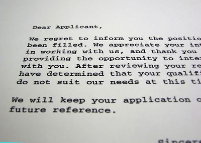 Rejection Letters - What Do They Teach Us? | USAA Member Community