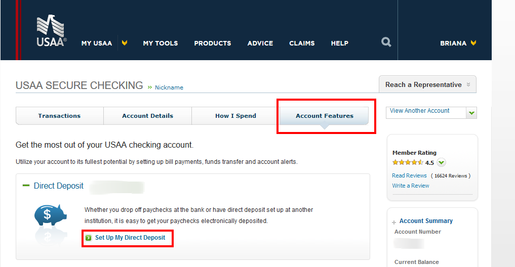 USAA Member Community setting up direct deposit.png