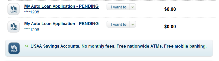 Why Are There 2 Auto Loan Applications On My Accou Usaa
