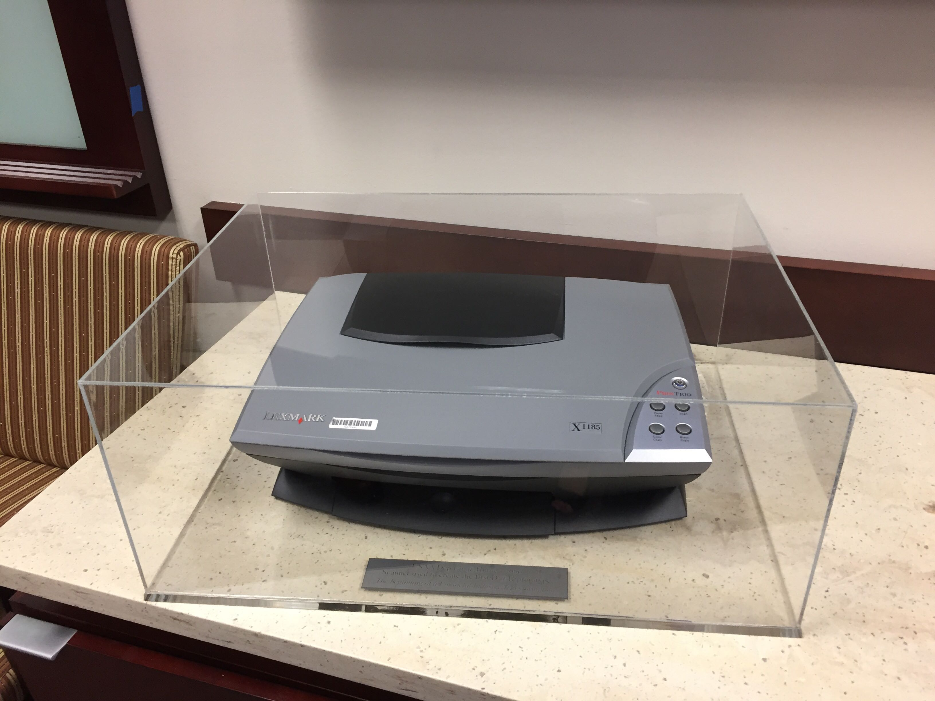 Original scanner used as a prototype of the groundbreaking technology