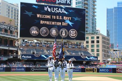 Navy Appreciation Day with the San Diego Padres