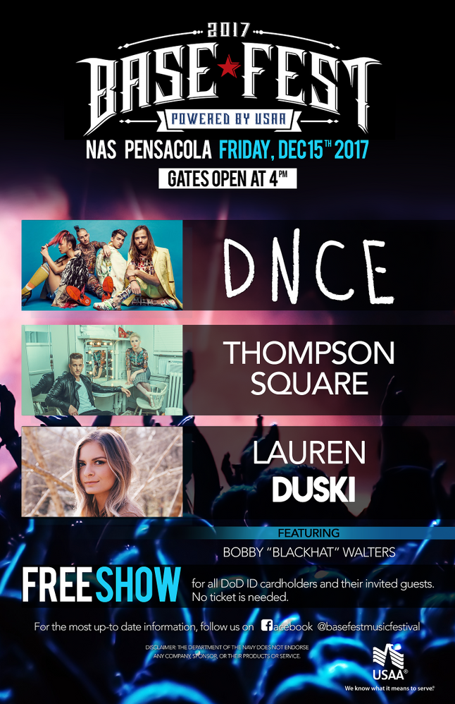 Base*FEST is coming to Pensacola on Dec 15th