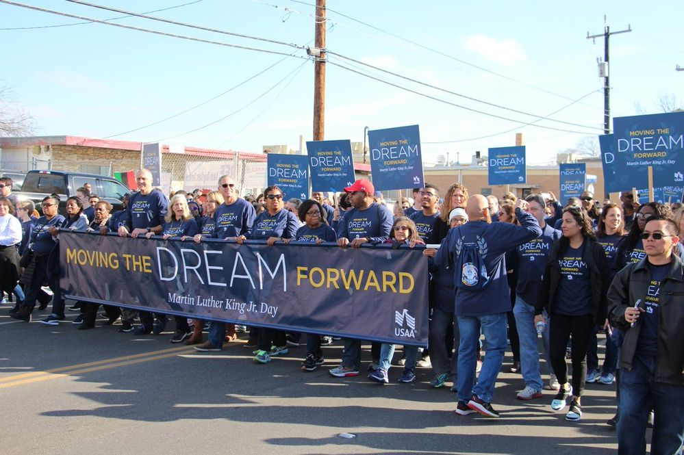 USAA Employees Participate in Martin Luther King, Jr. Marches