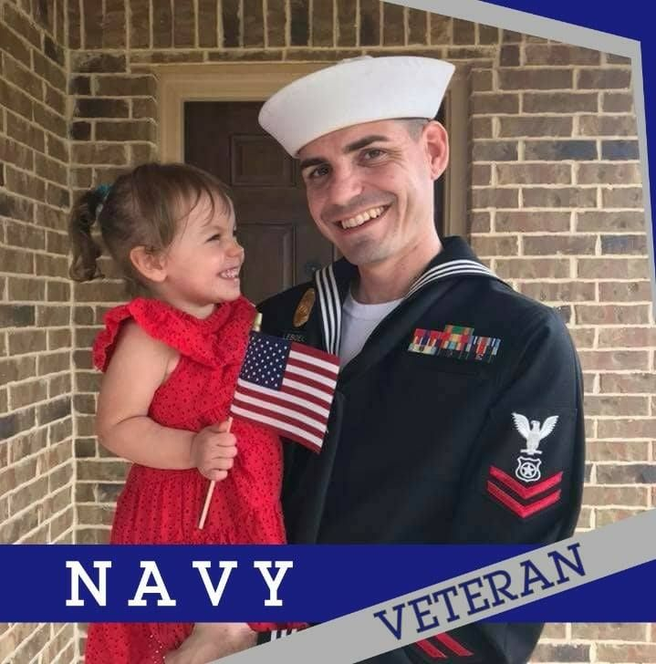 My son and granddaughter on Veterans Day.. Had to share