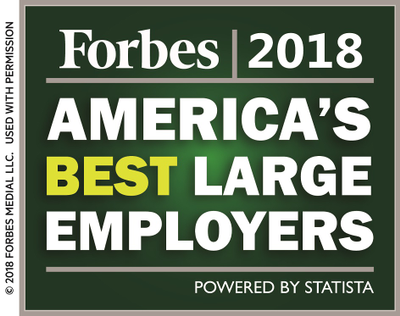Forbes® Ranks USAA as a Best Employer in U.S.