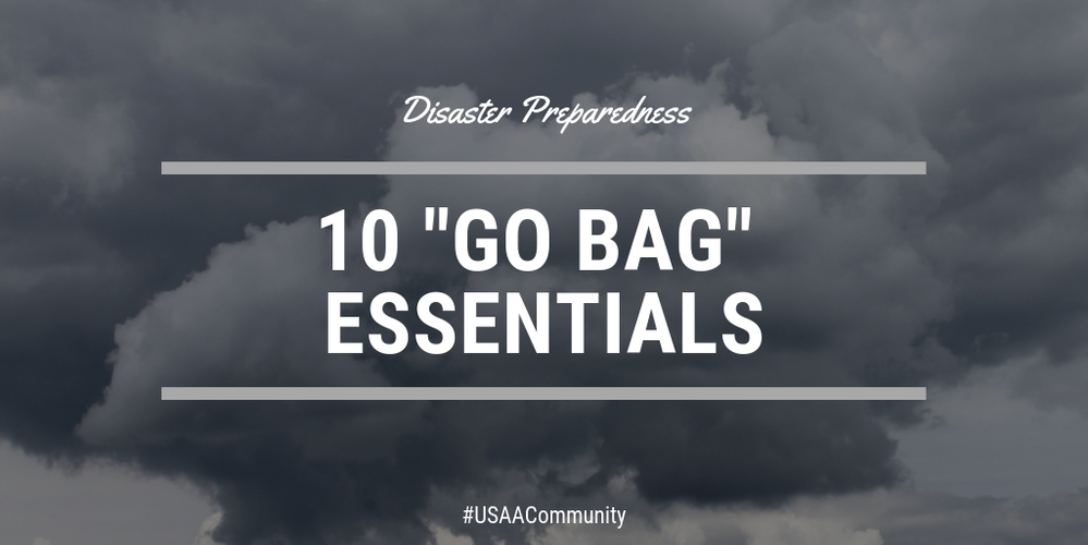 "How to Pack a Family ""Go Bag"" For Disaster Preparation"