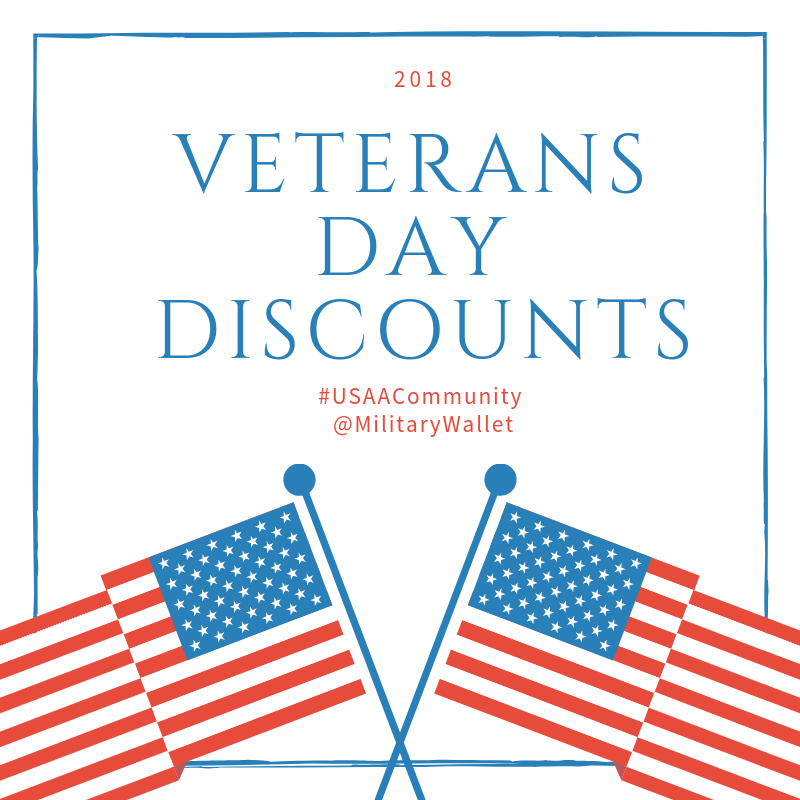 2018 Veteran's Day Discounts with the Military Wallet