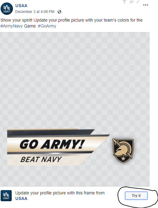 Show Your Game Spirit: Army Navy Game Facebook and Twitter Profile Photo Filters!