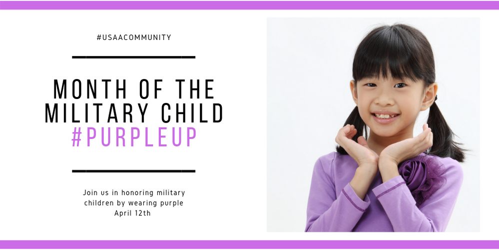 Purple Up to Celebrate Military Children