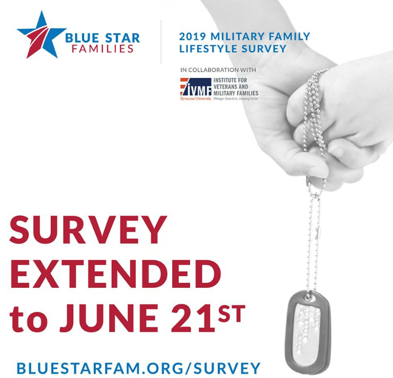 USAA Community -Blue Star Families Military Lifestyle Survey extended to June 21