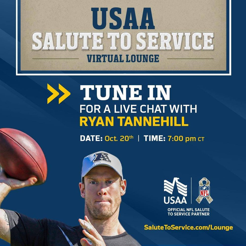 USAA Salute to Service Virtual Lounge with Ryan Tannehill