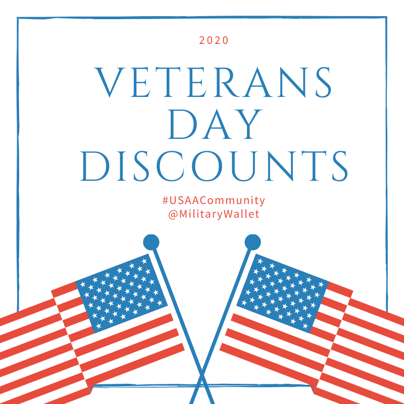 2020 Veterans Day Military Discounts with the Military Wallet
